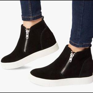 Steven Ceal Hidden Wedge Faux Fur Sneaker Size 8